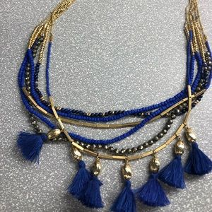 Stella and dot necklace. Blue and Gold